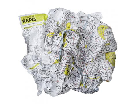 CRUMPLED CITY MAPS BY PALOMAR Les enfants Paris