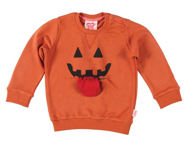 Pumpkin tongue out front