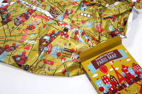 Paris Crumbled City Map