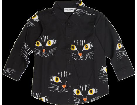 mini-rodini-shirt-aop-mini-rodini-cat-face-aop-shirt-black