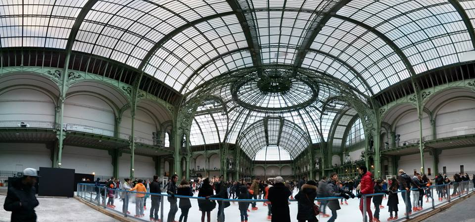 ice-skating in the grand palais