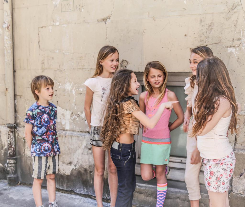 Street style by Les enfants a Paris