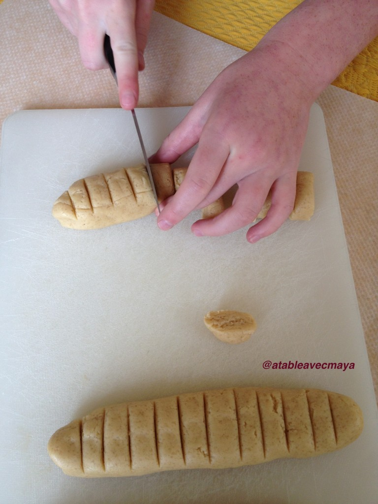 3. cutting the dough